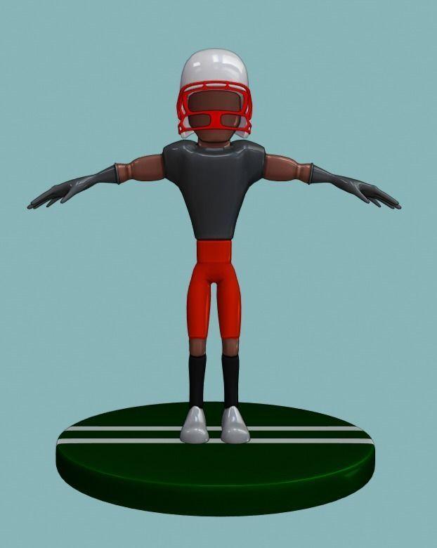 Stylized Football Player