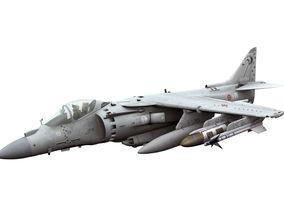 3D model Boeing AV-8B Harrier Italian Marina