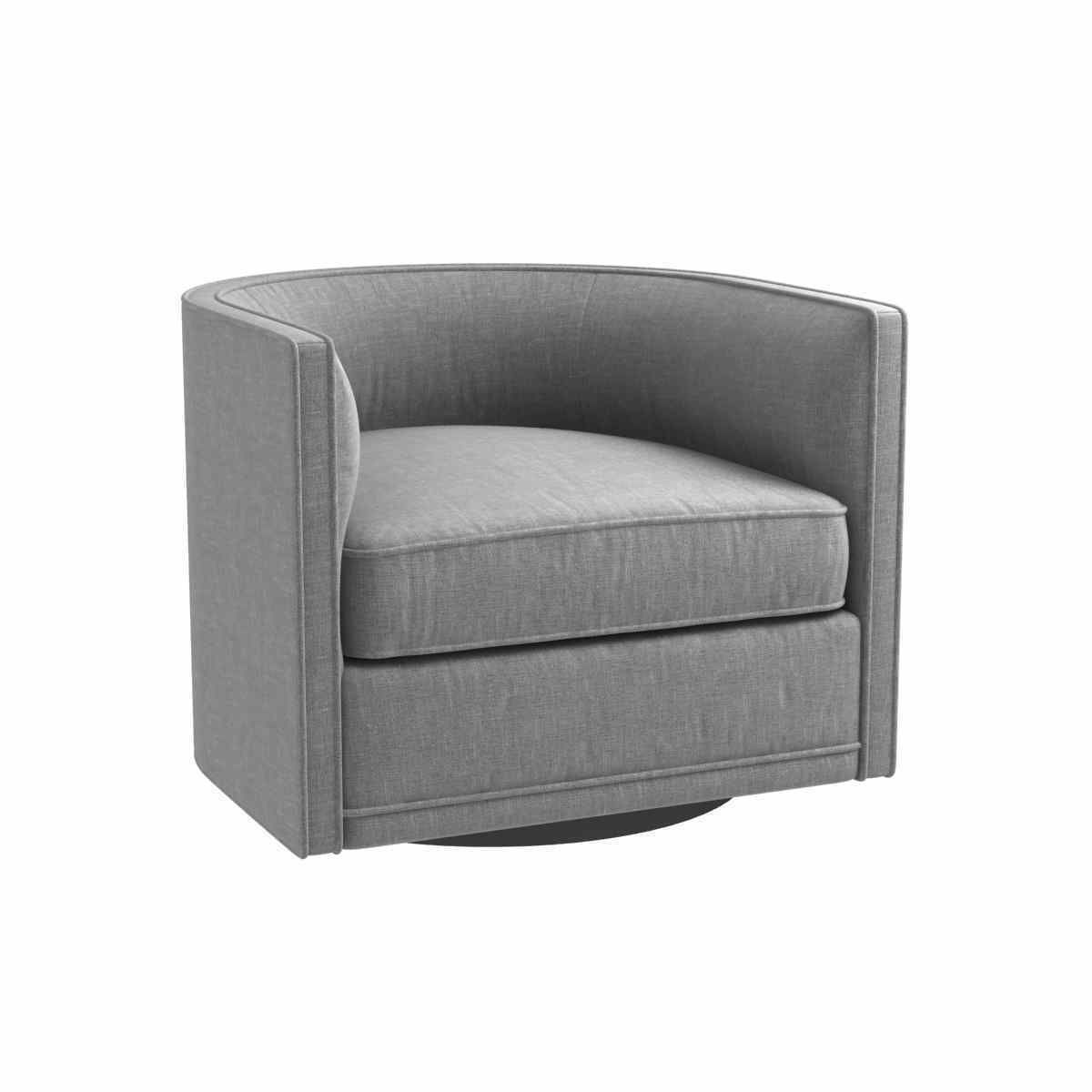 Custom Made Grey Swivel Round Chair 3d Model