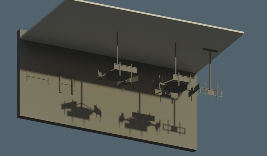 Display Wall and Ceiling Mount Revit Families | 3D model