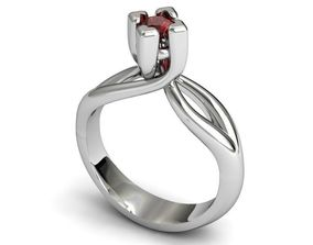 marriage 3D printable model Diamond ring