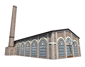 Industrial Building 3D model VR / AR ready