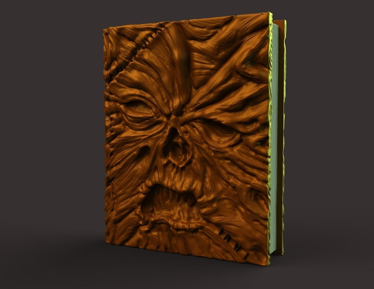 image about Printable Necronomicon Pages referred to as Necronomicon Ex-Mortis 3D Print Style