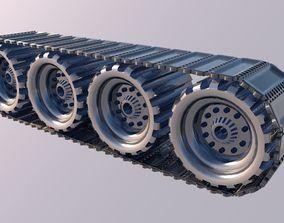 Tank wheel 3D model