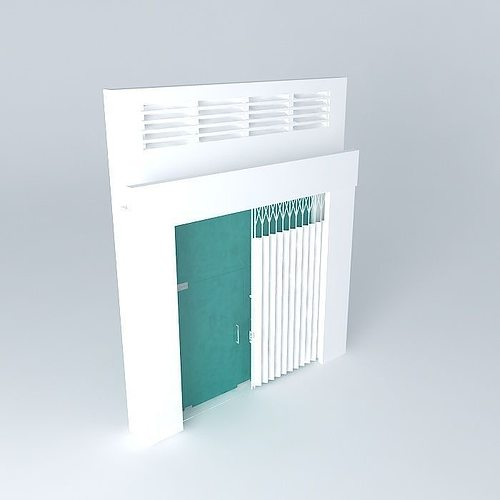 main door for flat 3d model max obj 3ds fbx stl dae 1