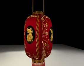 Chinese red lantern 3D interior