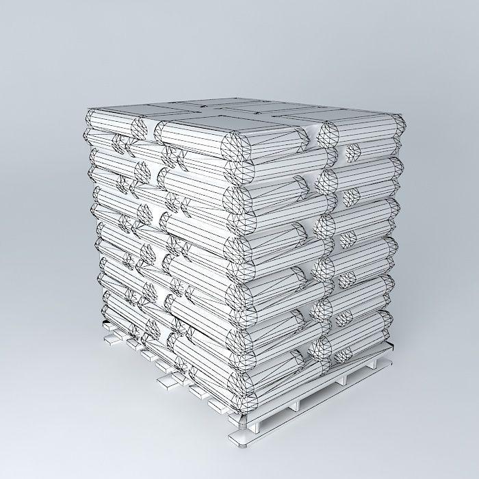 Pallet 60 Bags 3d Model Max Obj Mtl 3ds Fbx Stl Dae 4