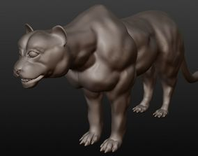 black panther statue 3D
