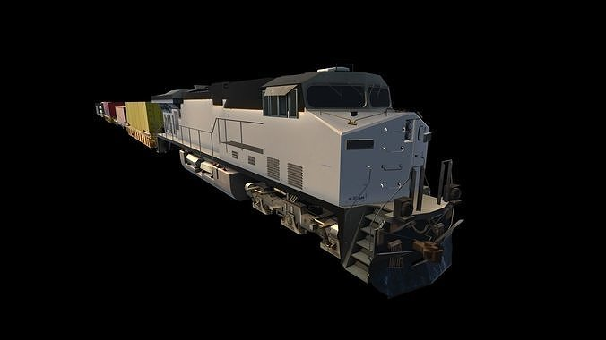 freight train 3d model obj mtl fbx unitypackage prefab mat 1