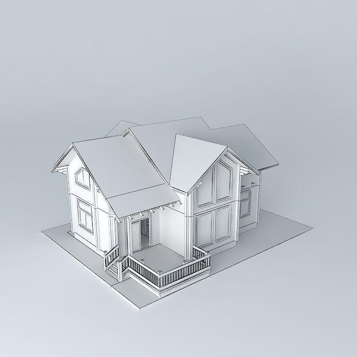 Wood House 3d Model Max Obj 3ds Fbx Stl Dae 4