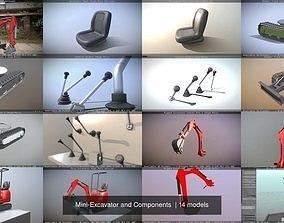 Mini-Excavator and Components 3D
