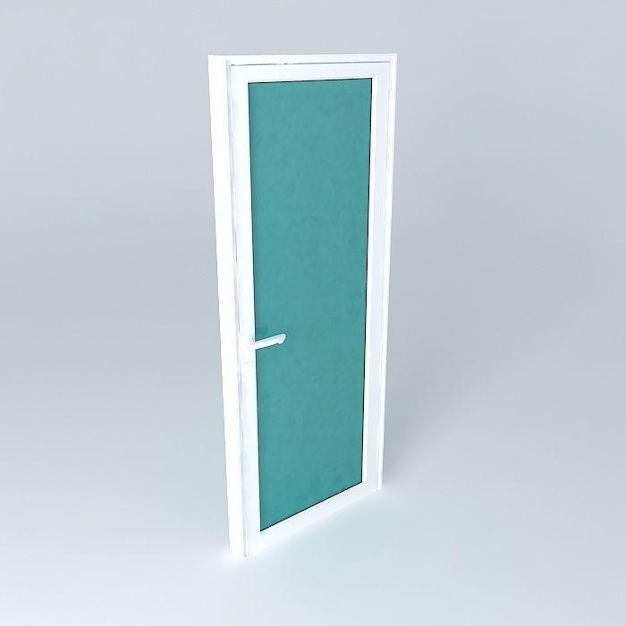 Aluminium Door 3d Model Max Obj 3ds Fbx Stl Dae 1