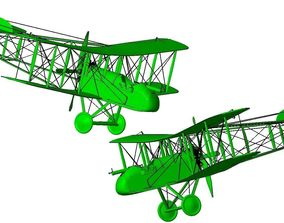 3D printable model Airco De Havilland DH-2 biplane