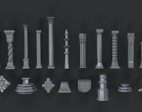 Collection Pillar 3D asset