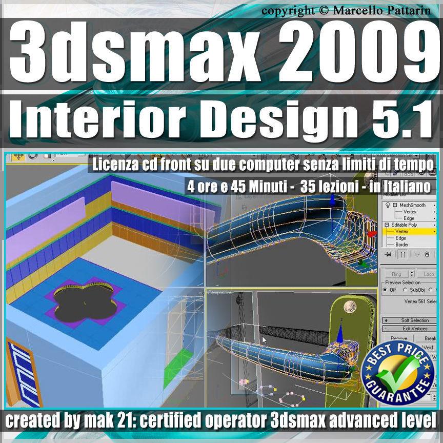 005 1 3ds max 2009 Interior Design v 5 1 Italiano cd front