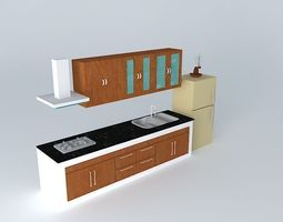 3D model Kitchen interior architectural