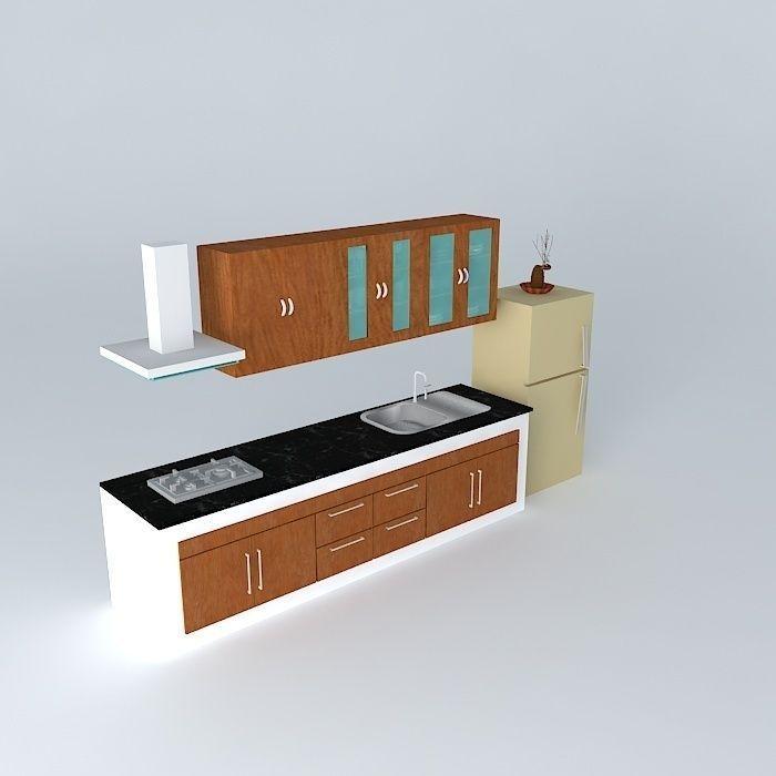 kitchen 3d model max