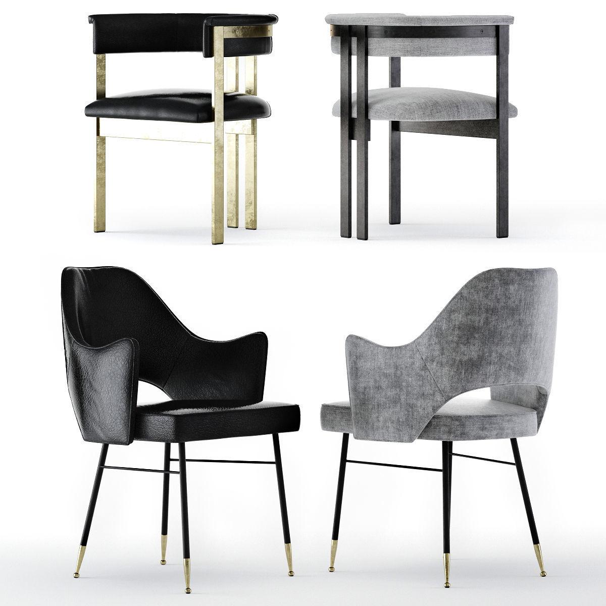 Kelly Wearstler Dining Chairs Model