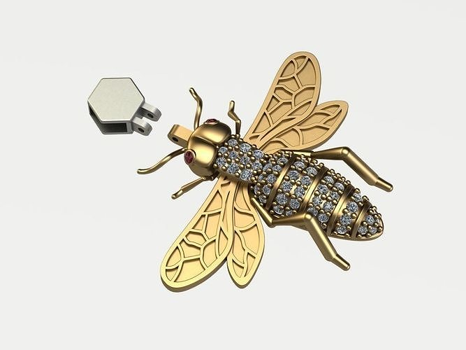 bee pendant 3d model 3dm 1