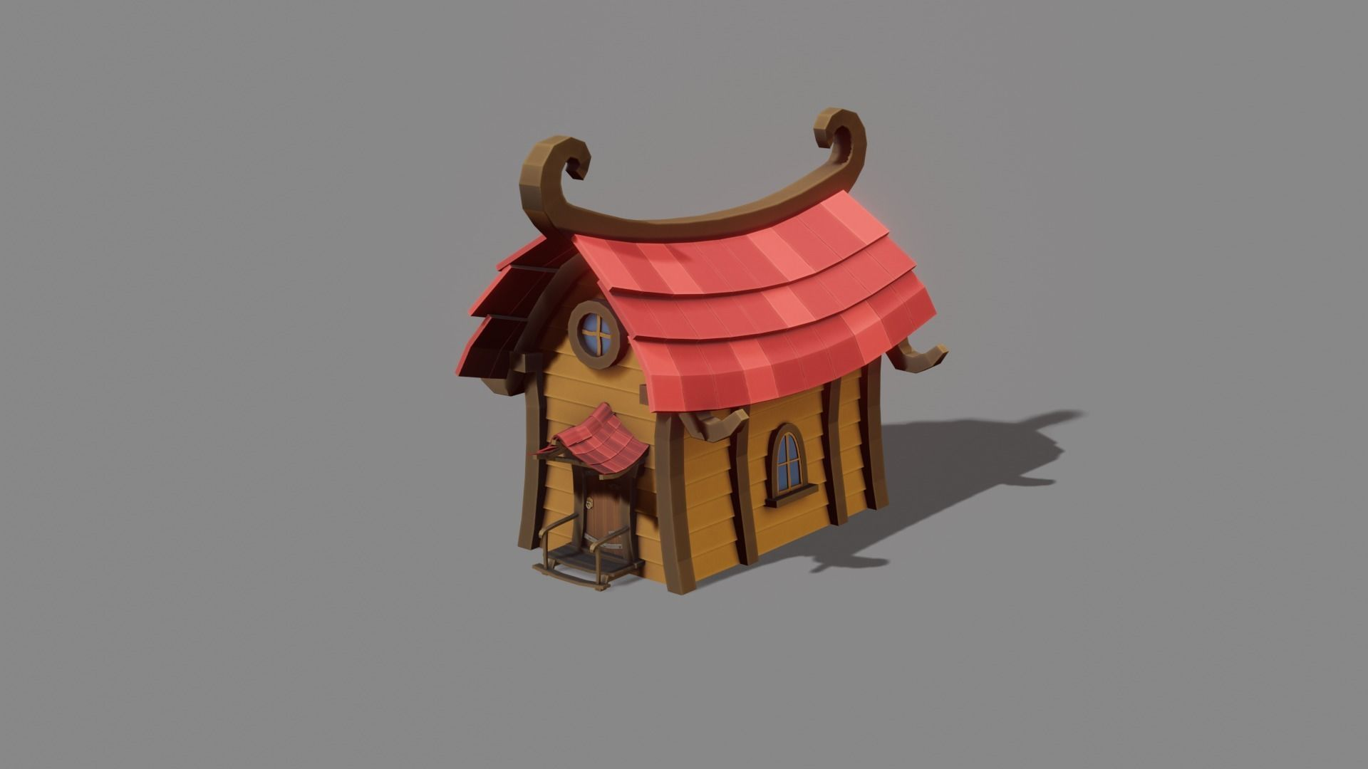 Cartoon House Low Poly Game Model 3d Model