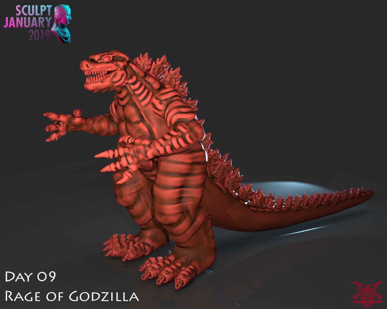 Stylized Godzilla Timelapse and Model