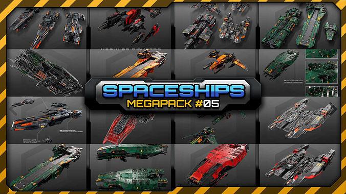 spaceships megapack 05 3d model max obj mtl 3ds fbx tga 1