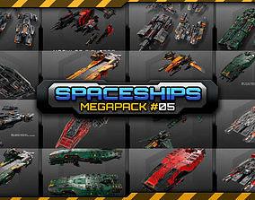 3D model Spaceships Megapack 05 spacecraft
