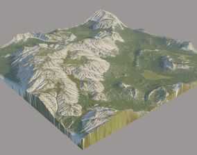 3D model Canyon Grassy Fields Surface