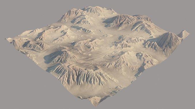 desert cliffs  3d model max obj mtl fbx 1
