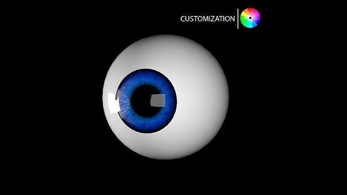 cartoon eye 3d model 3d model obj mtl fbx ma mb 1