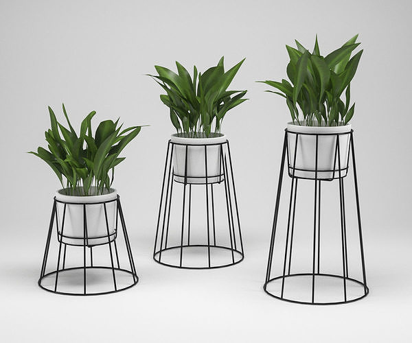 ok design cibele plant stand 3d model max obj mtl 3ds fbx 1