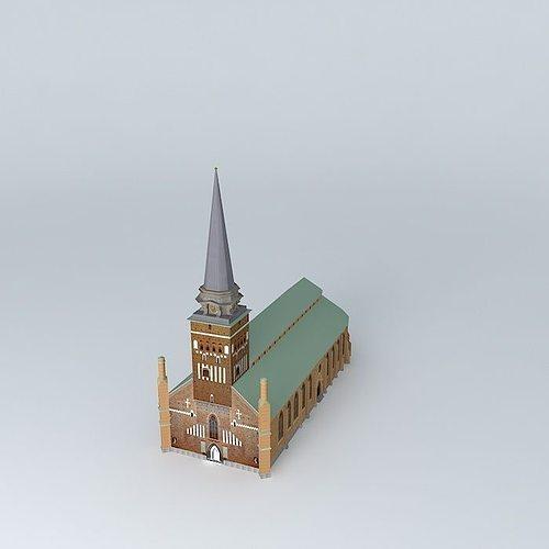 church in vasteras 3d model max obj mtl 3ds fbx stl dae 1