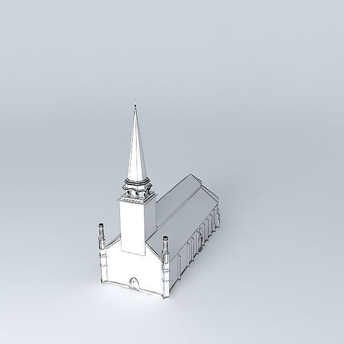 church in vasteras 3d model max obj 3ds fbx stl dae 4