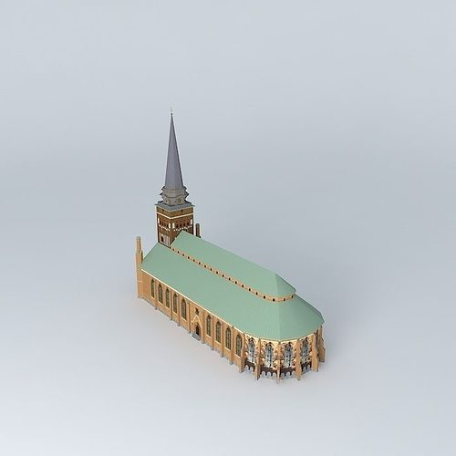 church in vasteras 3d model max obj 3ds fbx stl dae 3