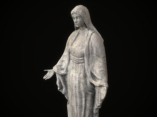 Saint Maria Statue PBR Low Poly