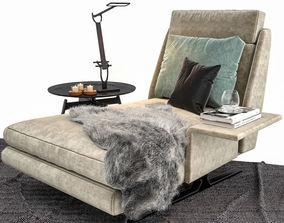 interior Minotti Spencer Chaise Lounge 3D model