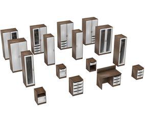 3D Bedroom Casework Collection