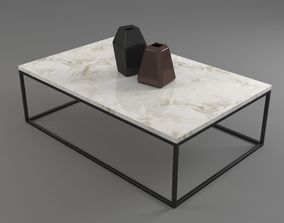 Marble Table Rectangle 3D model general-decor