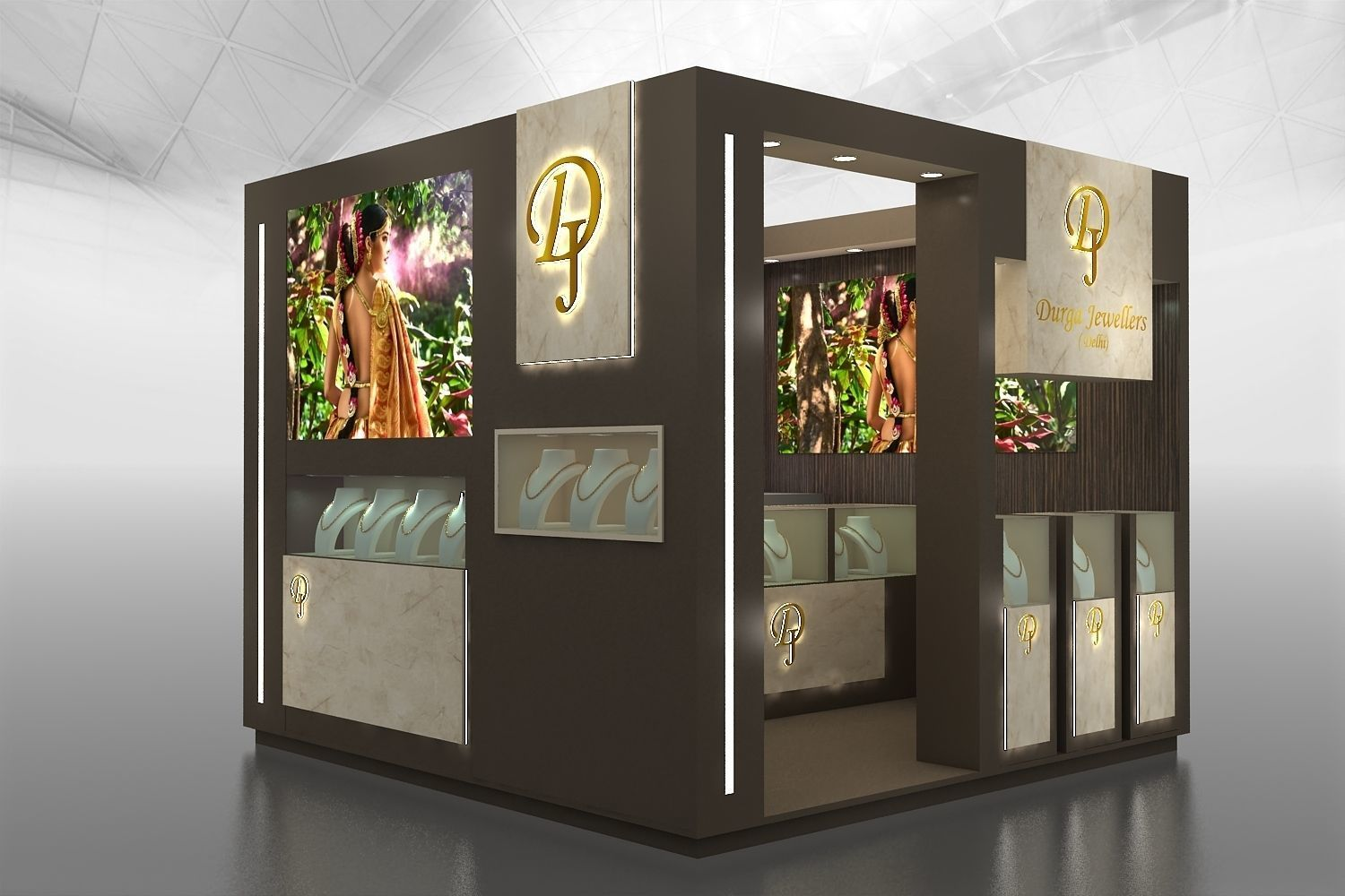 Jewelry Exhibition Stand Design : 3d 3x3mtr jewellery exhibition stand cgtrader