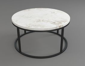 metal Marble and Iron Circular Table 3D model