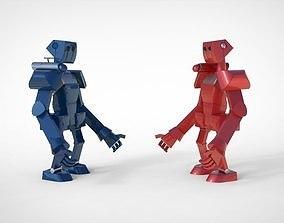 3D Simple Retro Vintage Arcade Robot