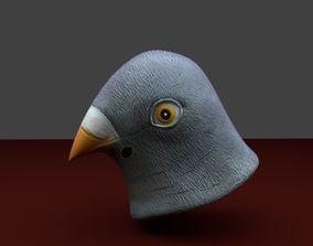 Pigeon Mask 3D asset