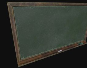 Old Chalkboard 3D asset