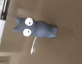3D print model Cat earbud cable protector