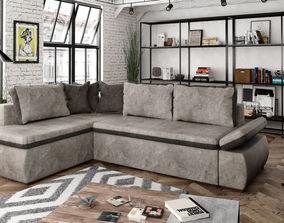 3D model Corner Sofa with 3 seats