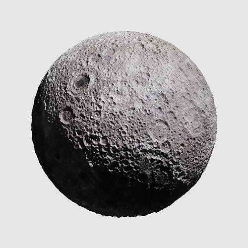 realistic moon 3d model obj mtl 3ds fbx blend dae 1