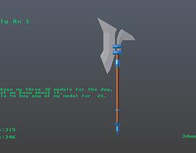 3D model Low poly Ax 1