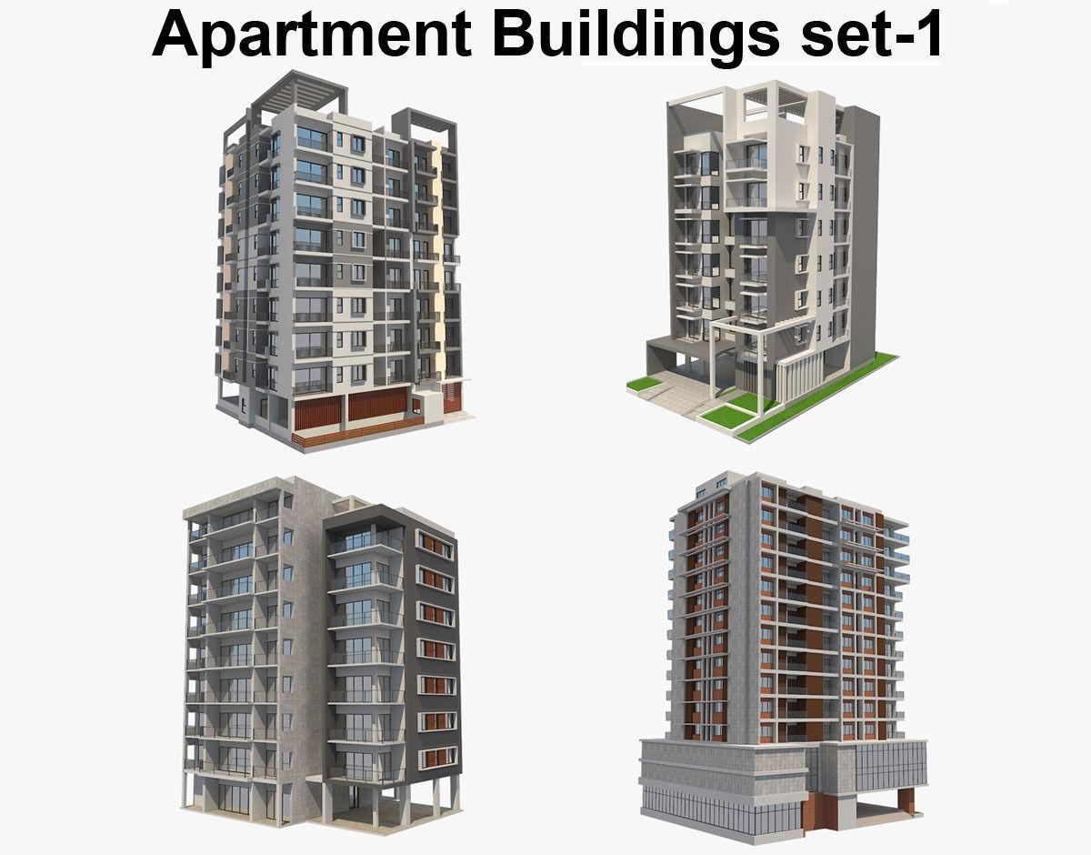 Apartment Buildings Set 1