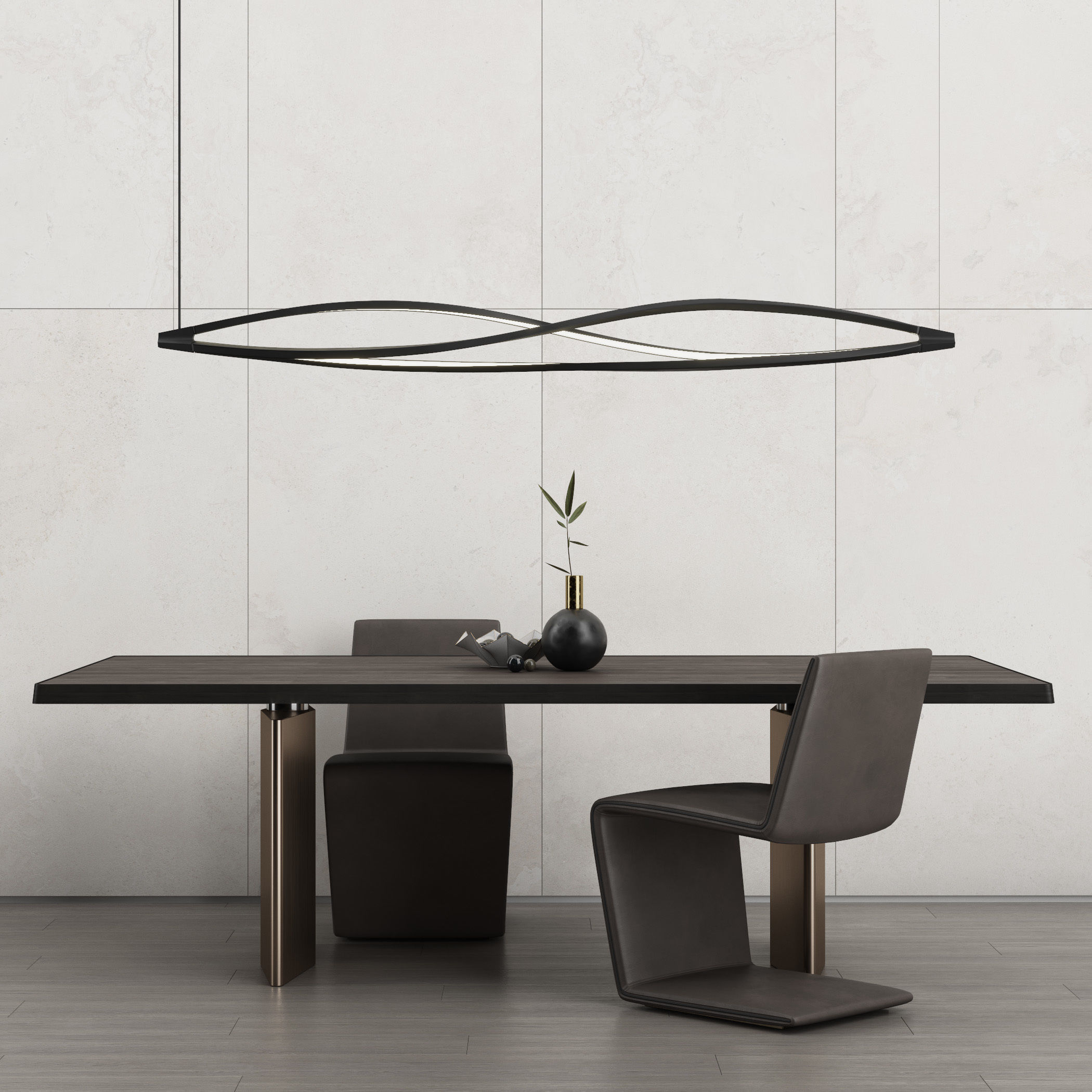 Minotti Morgan Dinning Table And Phillips Chair Model