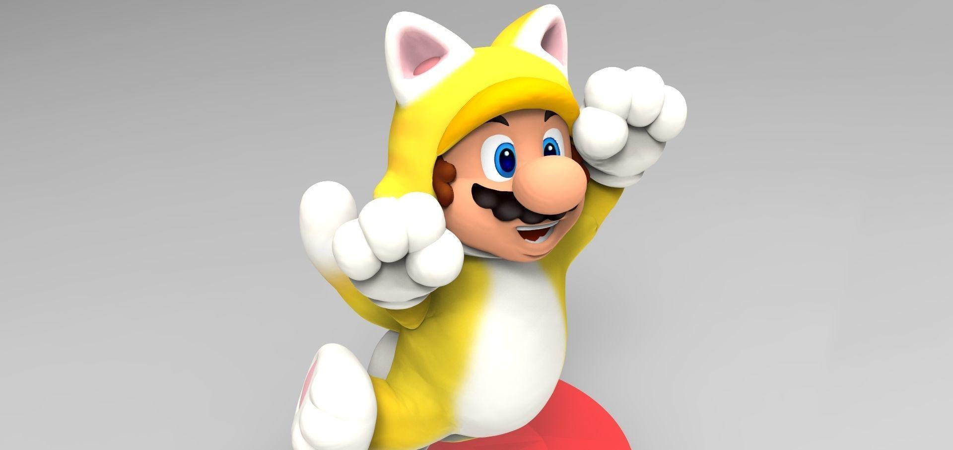 Cat Mario Custom Amiibo